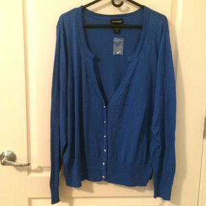 NWT Lane Bryant Size 26/28 Cardigan Sweater Teal